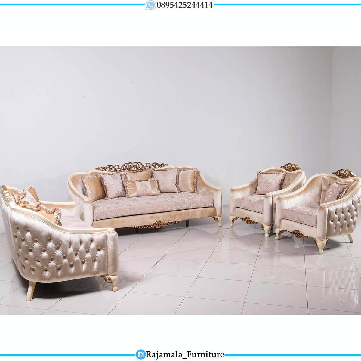 Best Sale Sofa Tamu Mewah Jepara Luxury Carving Classic Design RM-0606