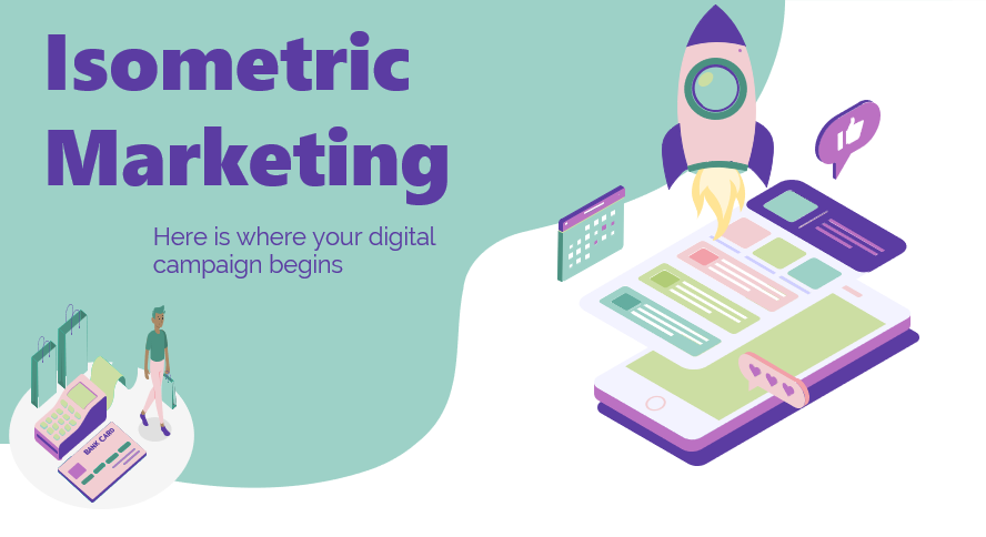 Isometric Marketing Free PowerPoint Templates