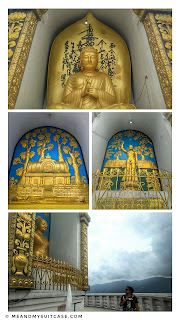 Four statues at Peace Pagoda
