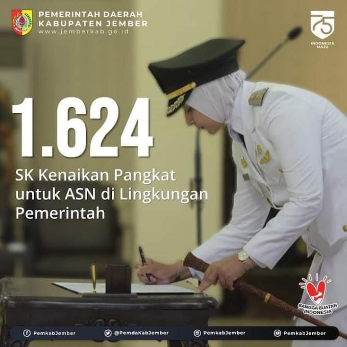 1.624 Pegawai  SK Kenaikan Pangkat