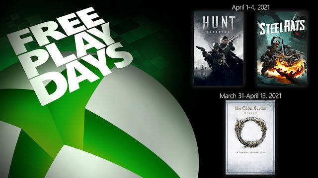 elder scrolls online tamriel unlimited hunt showdown steel rats xbox live gold free play days event