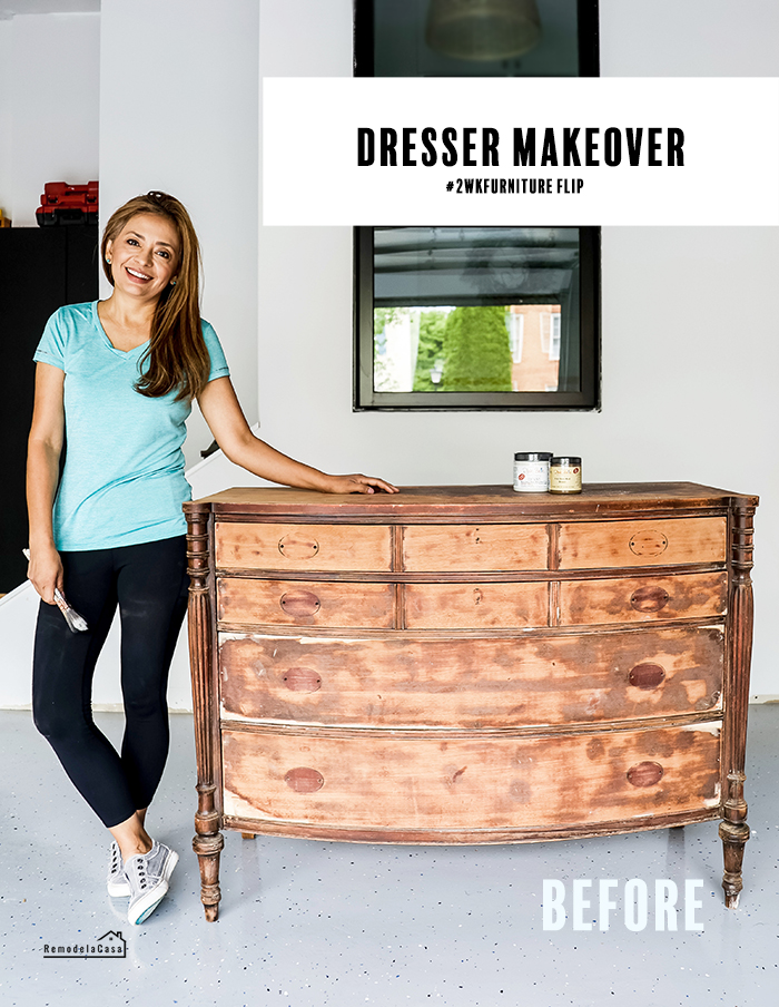 an old dresser gets new life - Cristina Garay