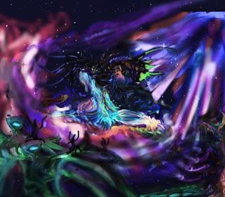 Une représentation d'Azathoth par OldmanKazh (DeviantArt)