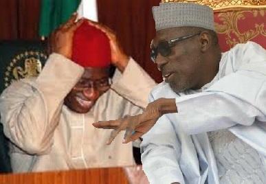 Goodluck Jonathan and Ahmed Makarfi