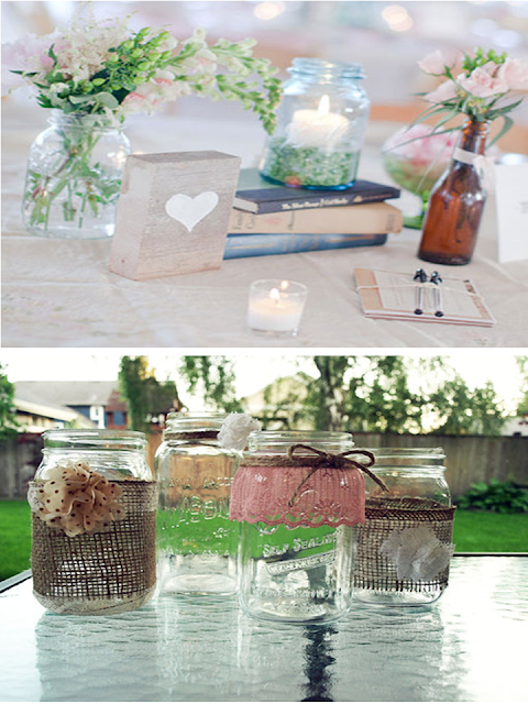 garrafa de vidro transparente para decoração