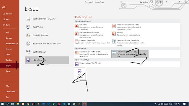 Cara Mengubah Slide PowerPoint (PPT) Menjadi File Gambar (JPEG) Offline Tanpa Aplikasi