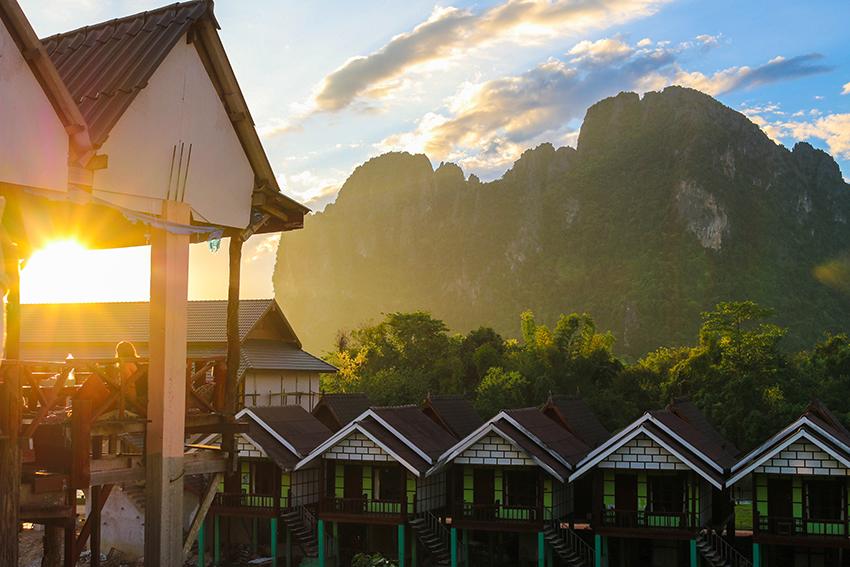 Vang Vieng Sonnenuntergang