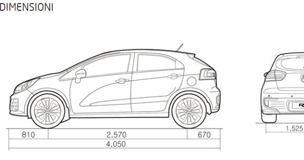 Kia rio 2016 city car 5 porte spaziosa ecco dimensioni for Quali sono le dimensioni di un garage per auto