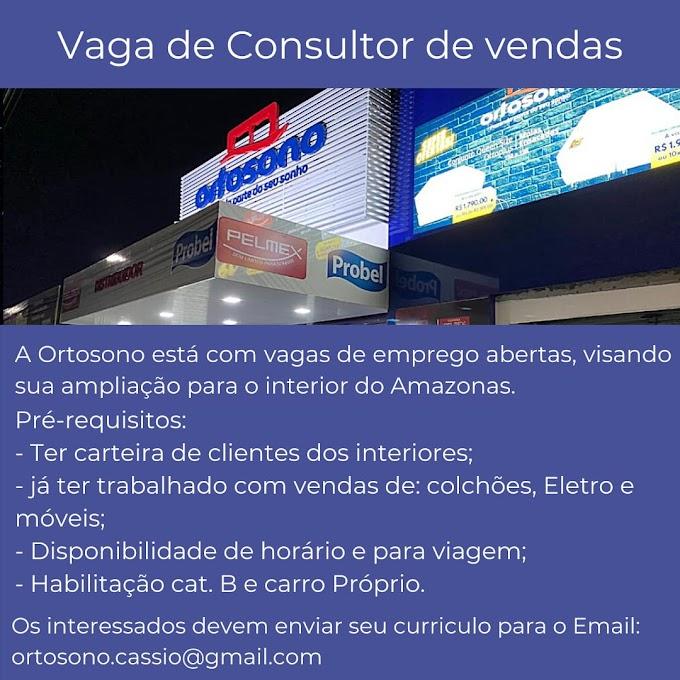 CONSULTOR DE VENDAS - ORTOSONO
