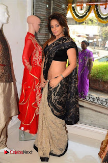 Actress Neetu Chandra Stills in Black Saree at Designer Sandhya Singh's Store Launch  0040.jpg
