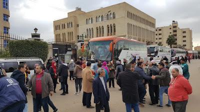الآلاف من أبناء كفرالشيخ يتوجهون إلى القاهرة لدعم الدولة والرئيس السيسى