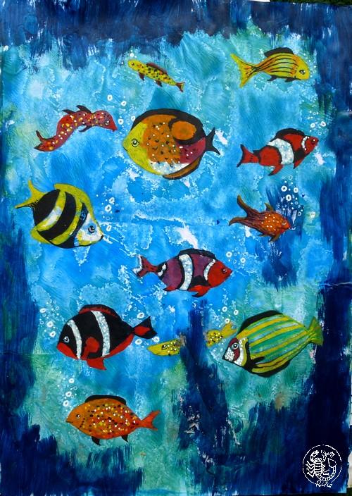Rike S Art Fantasie Fische Mit Punkten Und Streifen
