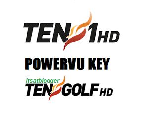 Ten 1 HD and Ten Golf HD New PowerVU Keys on Asiasat7 Updated 2017