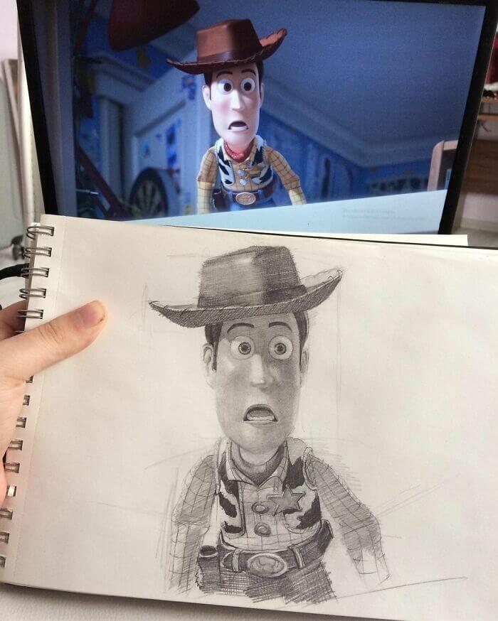 11-Woody-from-Toy-Story-Samet-Turkan-www-designstack-co
