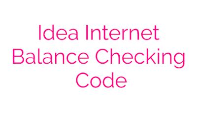 Idea Internet Balance code