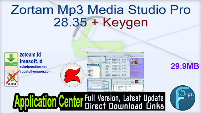 Zortam Mp3 Media Studio Pro 28.35 + Keygen_ ZcTeam.id