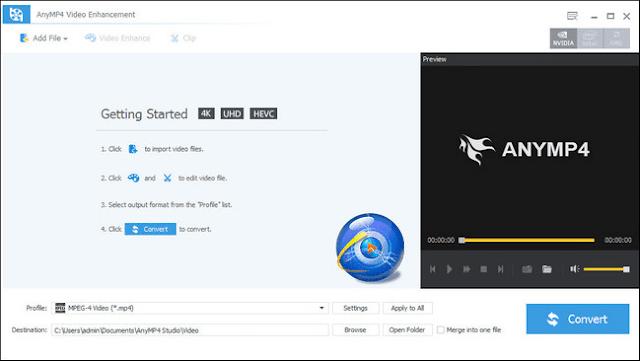تحميل برنامج توضيح الفيديو ومعالجة التشويش AnyMP4 Video Enhancement