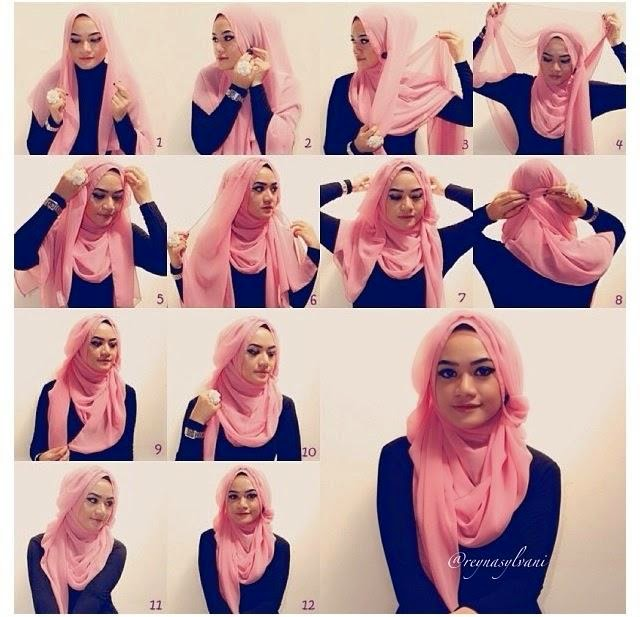 model jilbab pasmina ala april jasmine