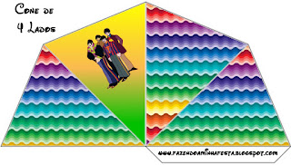 Beatles Yellow Submarine Free Printable Cones.