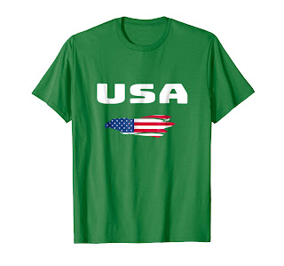 USA FLAG T-Shirt American Eagle Flag United States of Americ