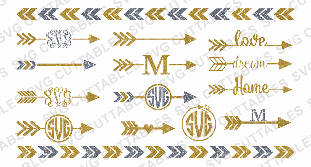 monogram arrow set, monogra arrow designs, silhouette studio tutorials