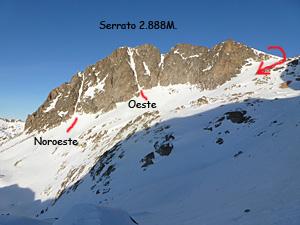 Corredores del Serrato y descenso