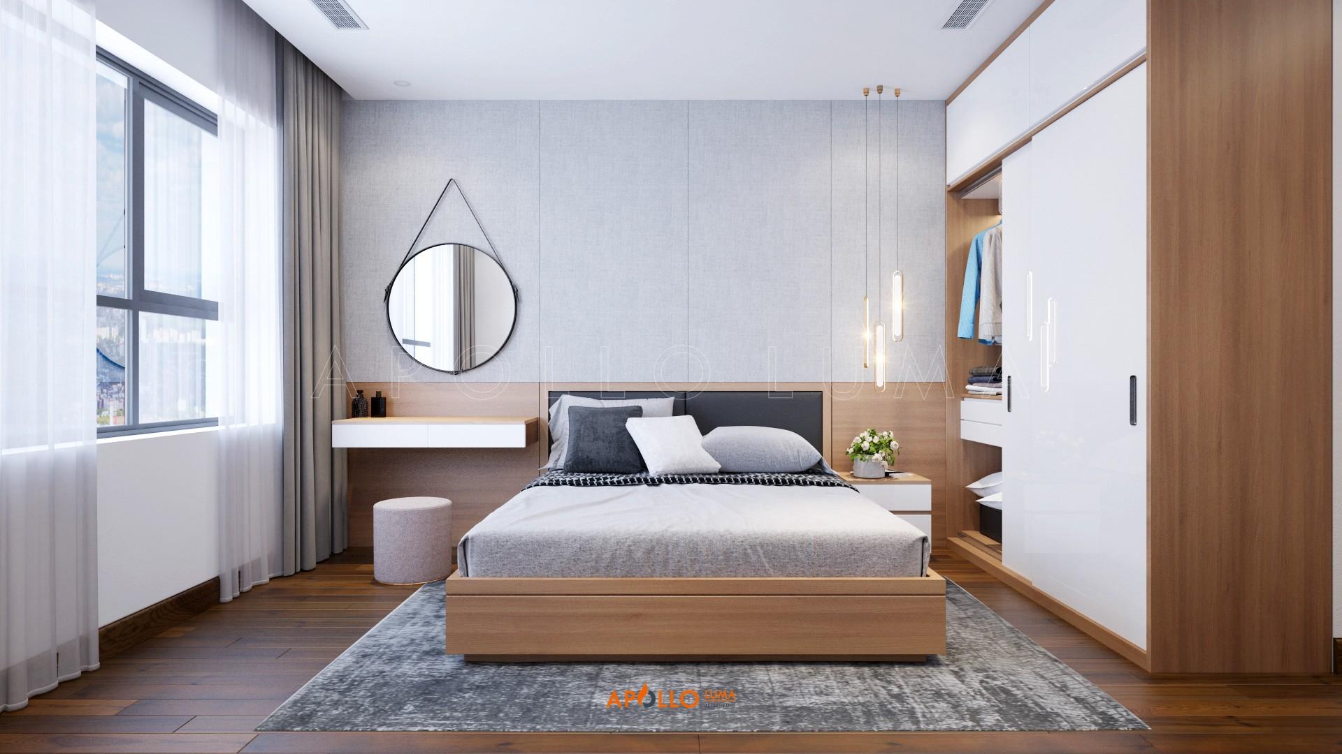 Thiết kế nội thất căn hộ 2PN D'.Capitale Trần Duy Hưng