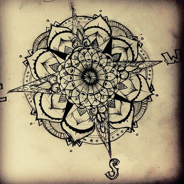 100+ Awesome Compass Tattoo Ideas