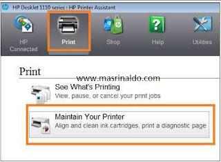 Cara Head Cleaning Printer HP Deskjet