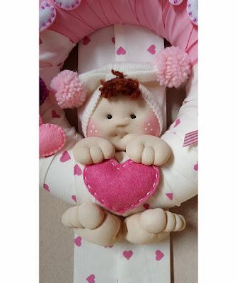 Fiocco nascita bambolina maglina dettaglio