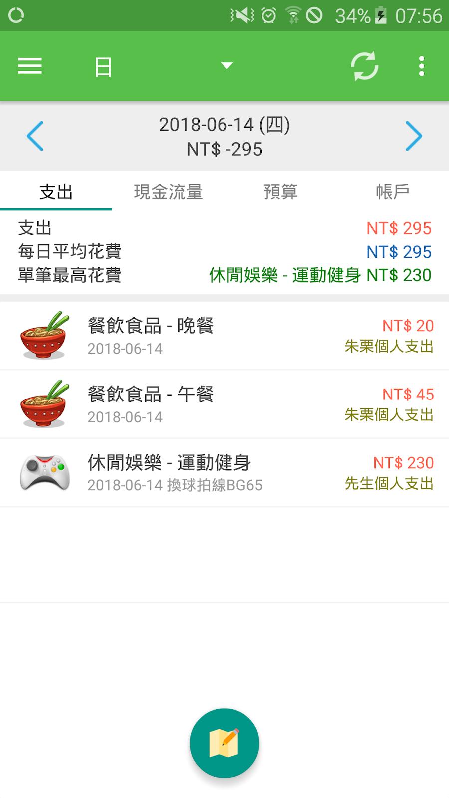 Share|《記帳 AndroMoney 理財幫手》 直覺好用的記帳 App