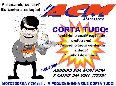 A greve dos professores de Salvador: charges