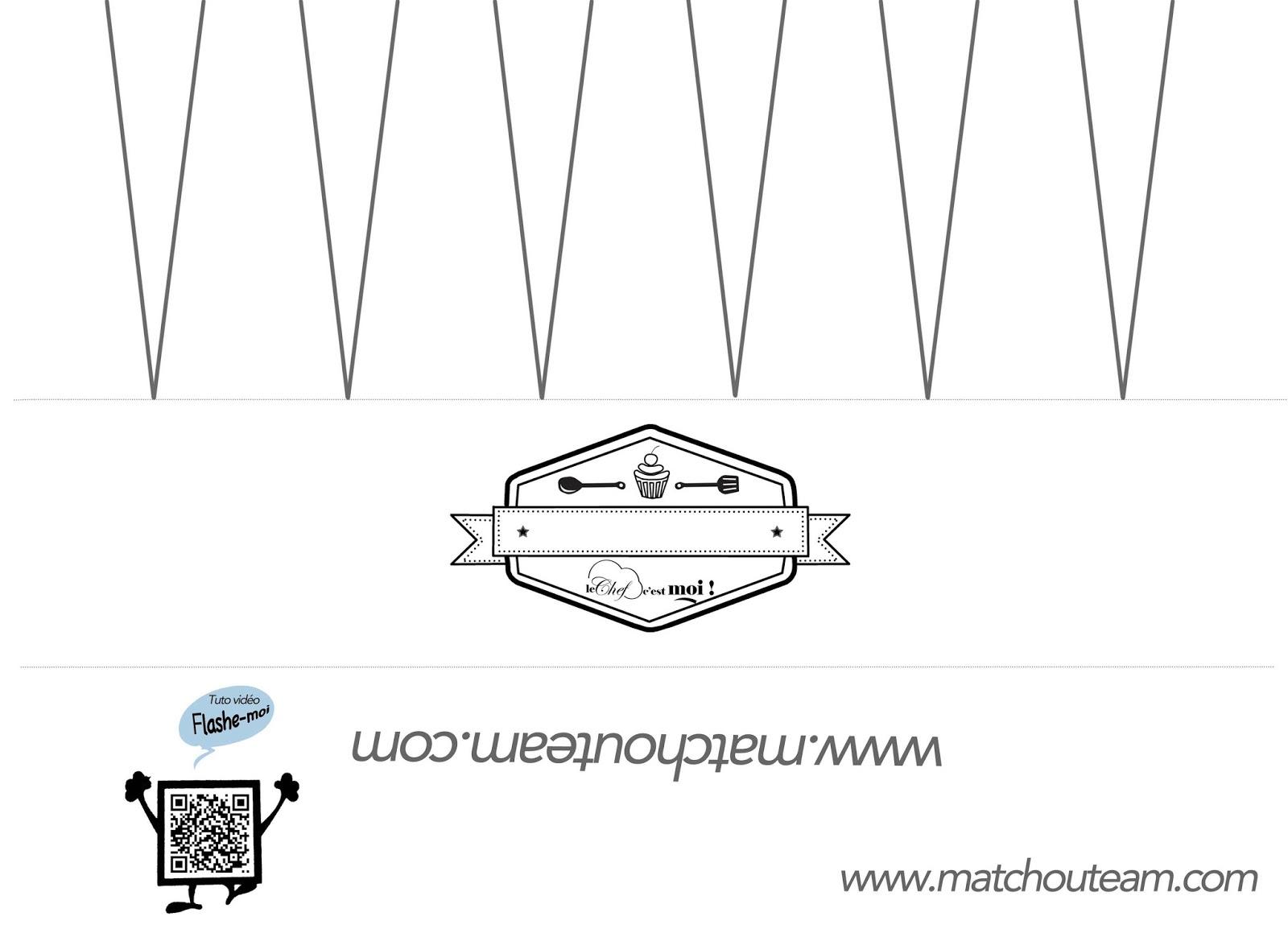 Souvent Ma Tchou team: La toque du chef 100% papier QW76