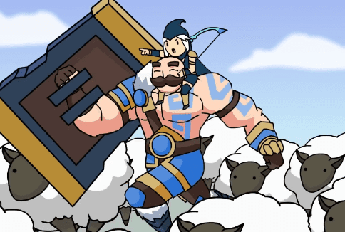 Animação do lol remix do braum