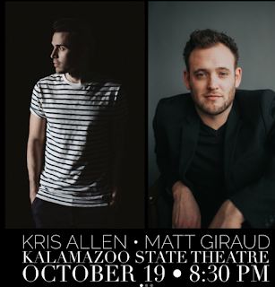 Poster for Kris Allen/Matt Giraud at State Theatre October 19 8:30 PM