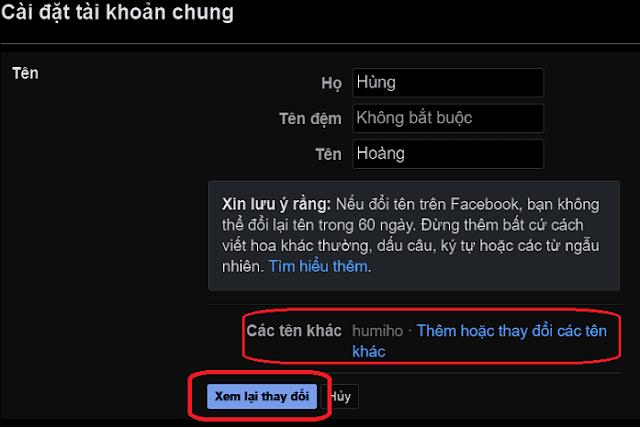đổi tên đăng nhập Facebook_5