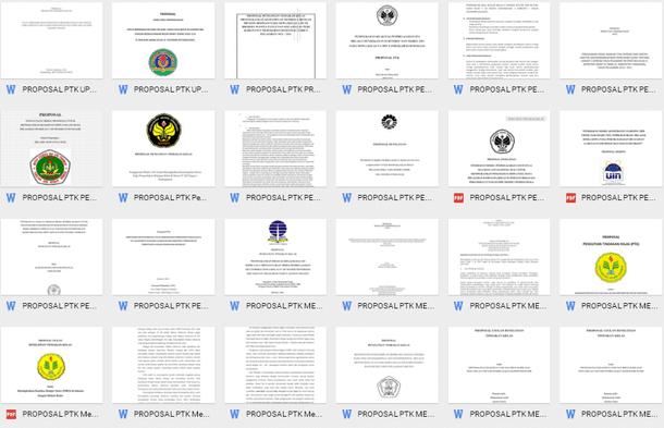 Contoh Proposal PTK Penelitian Tindakan Kelas Format Microsoft Word dan PDF