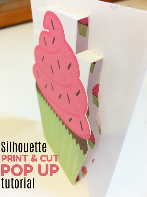 silhouette print and cut, print and cut silhouette, silhouette cameo print and cut, pop up tool, Silhouette paper cuts