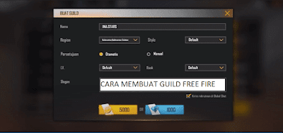 Cara Membuat Guild FF di Free Fire