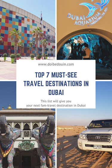 top 7 travel destinations of dubai @doibedouin