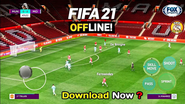 FIFA 21 Camera PS5 Android Offline 900MB Apk+Obb Best Graphics New Face Kit 21 Update