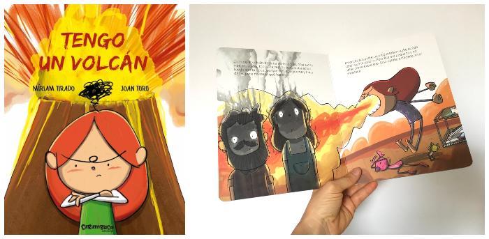 Libro infantil gestionar rabietas: Tengo un volcán Míriam Tirado Joan Turu