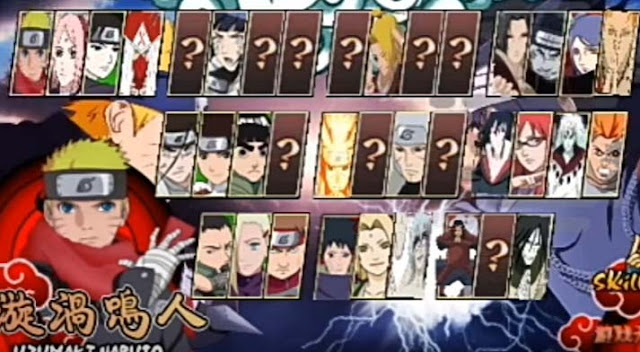 Download Naruto Senki Overcrazy MOD APK Full Character