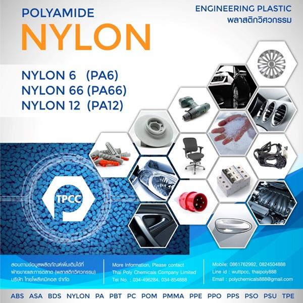 พอลิเอไมด์, Polyamide, ไนลอน, Nylon, Nylon6, Nylon66, PA6, PA66, พลาสติกวิศวกรรม, Engineering Plastic, พอลิเมอร์วิศวกรรม, Engineering Polymer