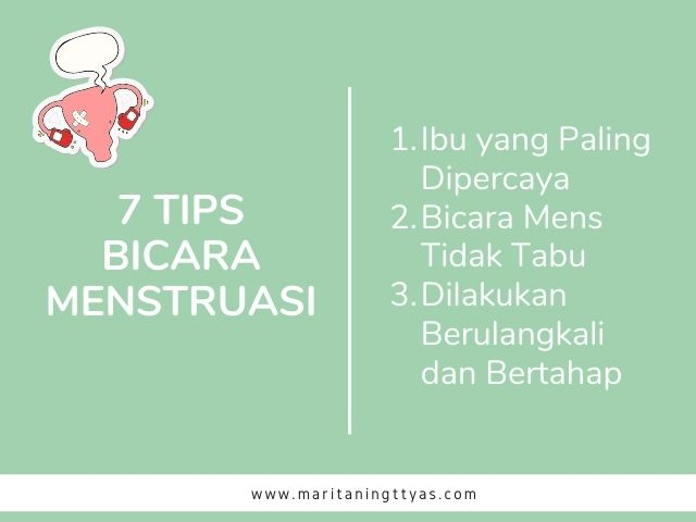 tips bicara menstruasi pada remaja