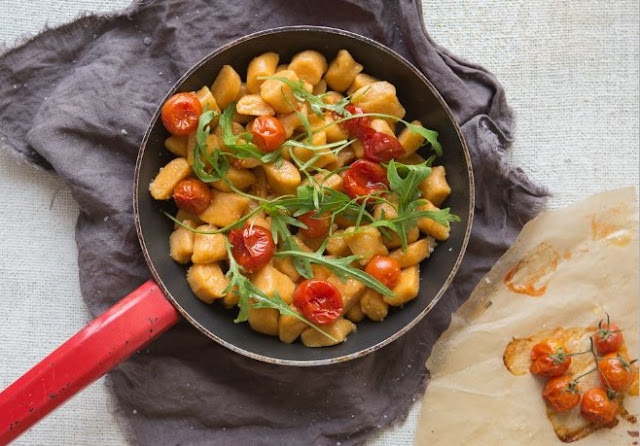 Vegan Sweet Potato Gnocchi #vegan #plantbased