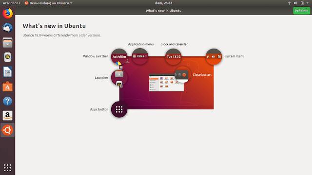 Ubuntu 18.04 LTS Boas vindas