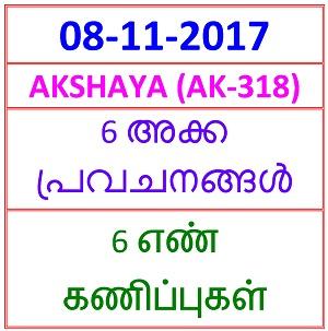 08 NOV 2017 AKSHAYA (AK-318) 4  NOS PREDICTIONS