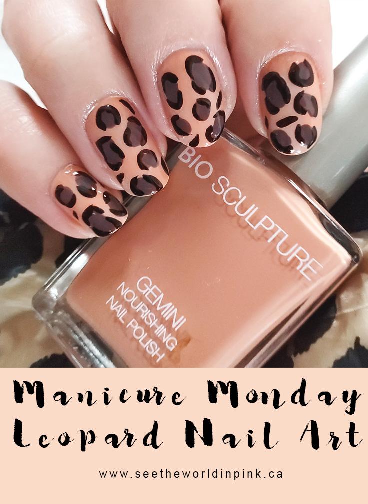 Manicure Monday - Leopard Print Nail Art