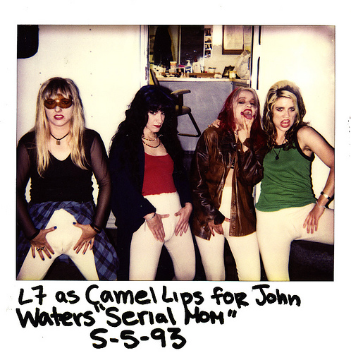 L7 as Camel Lips in 'Serial Mom' 1993. PunkMetalRap.com